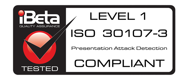 COMPLIANT ISO 30107-3 - LEVEL 1 - High Rez