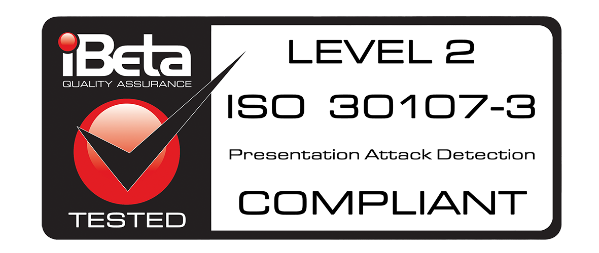 COMPLIANT ISO 30107-3 - LEVEL 2 - High Rez
